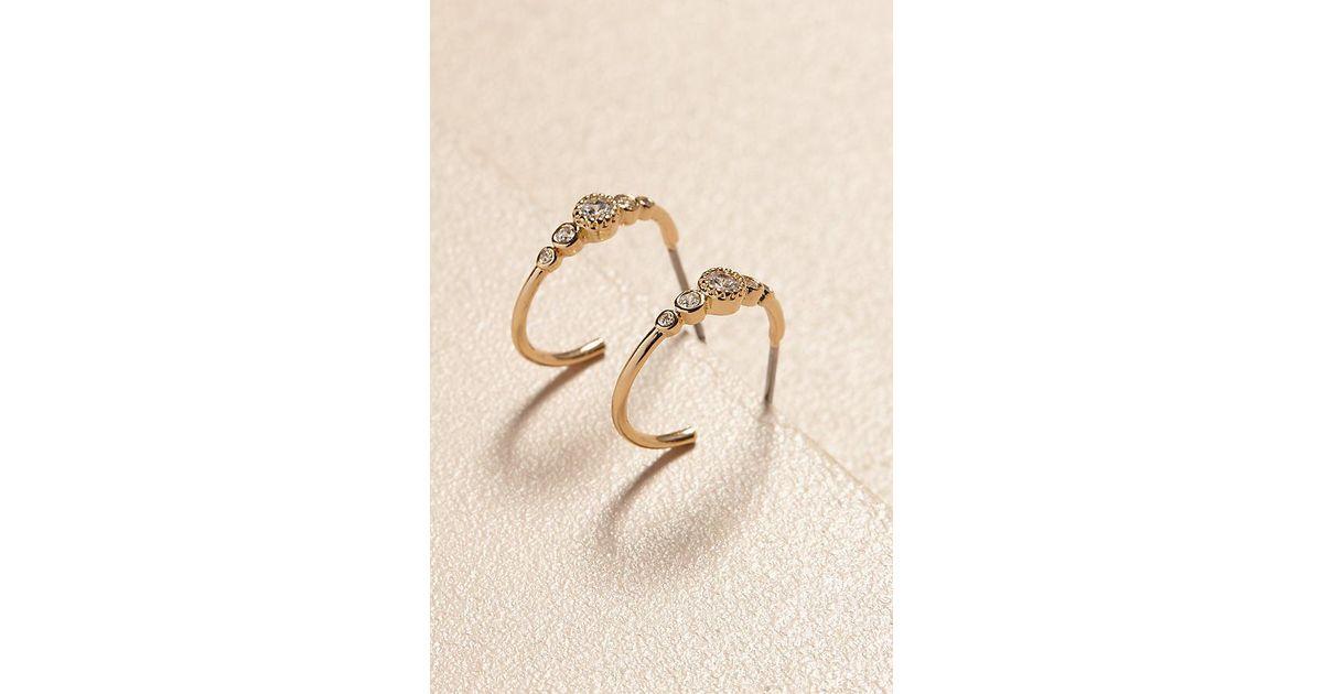 326b226f1 Anthropologie Stella Hoop Earrings in Metallic - Lyst