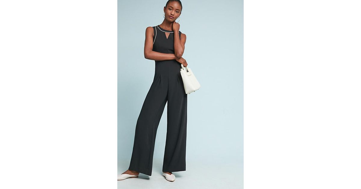 b583b5cd1459 Anthropologie Whitney Tailored Jumpsuit in Black - Lyst