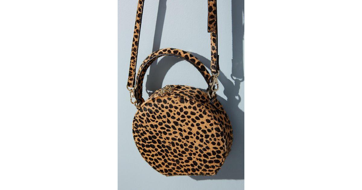 733da7e7906f Anthropologie Circular Leopard-print Crossbody Bag in Blue - Lyst