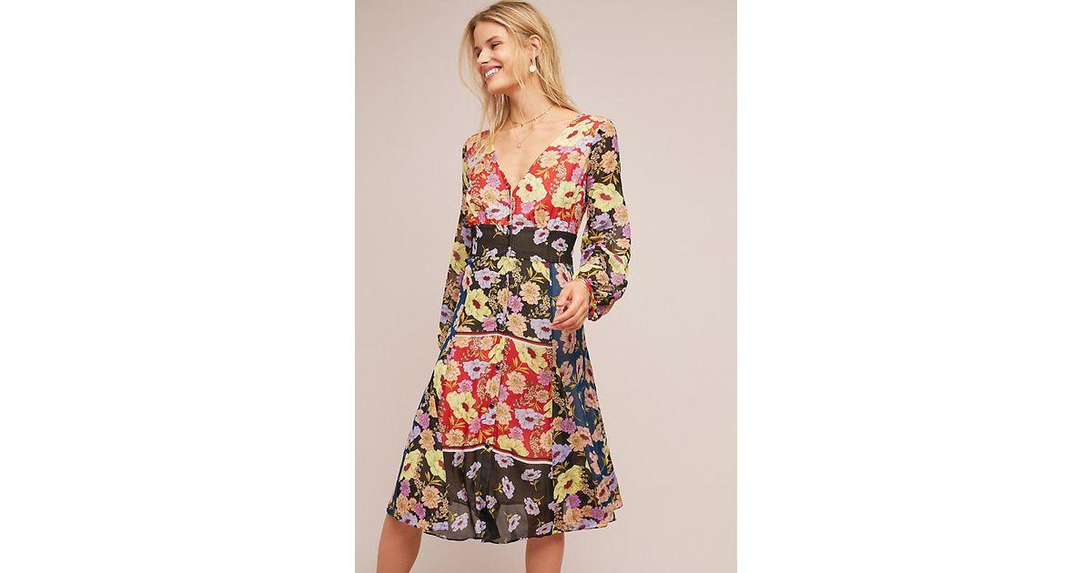 311b14a9c4c8f Maeve Gardenia Wrap Dress - Lyst