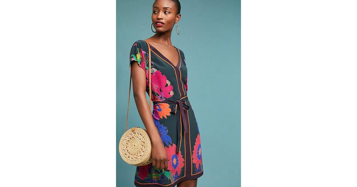 b9f4b7162a005 Maeve Jules Printed Silk Tunic Dress - Lyst