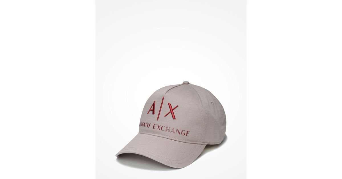 a91e21c68ce8 Lyst - Armani Exchange Ax Embroidered Hat in Gray for Men