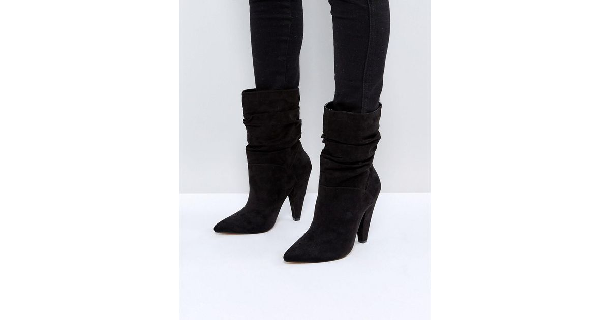 ASOS EMERSON Slouch Heeled Boots hfePNDTi