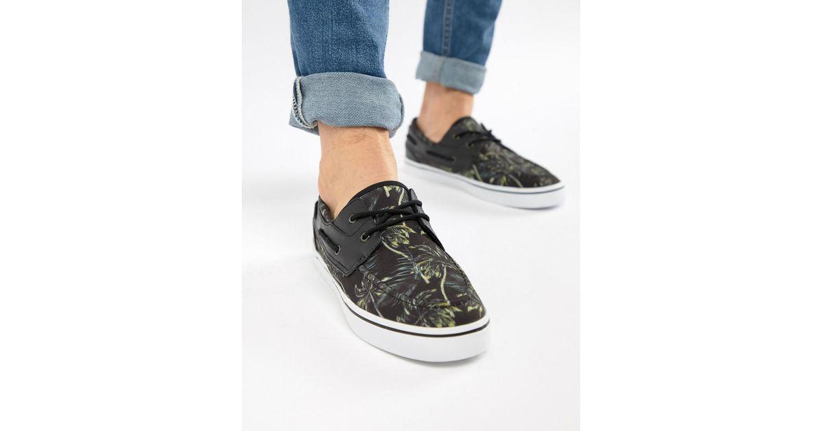 Chaussures Bateau Design Asos En Imprimé Floral Noir Vacances - Noir kgCzN