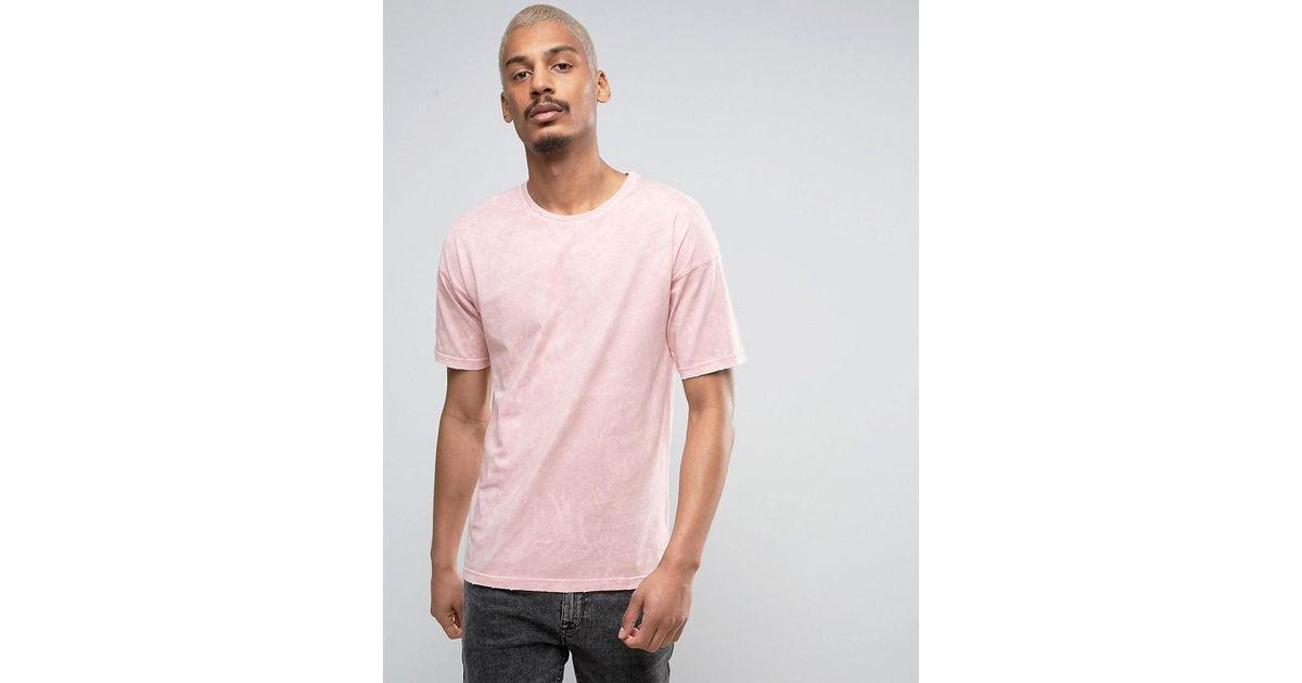 Black kaviar Oversized T-shirt In Pink Acid Wash in Pink for Men ...
