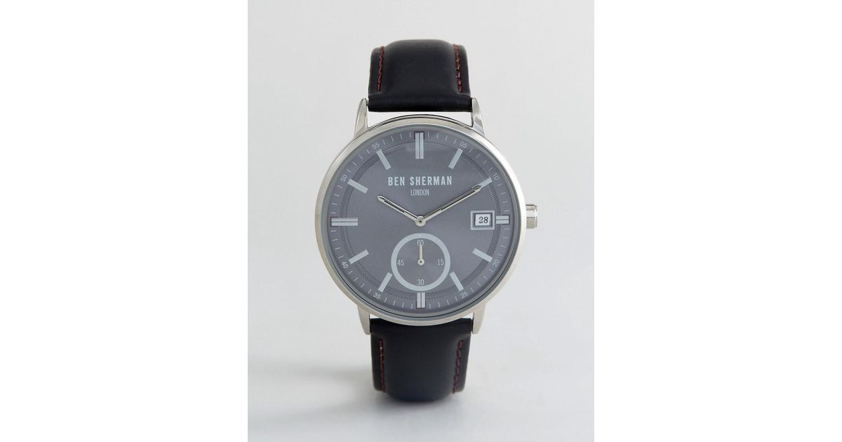 Lyst - Ben Sherman Wb071bb Watch In Black Leather in Black for Men 0bfe4517825