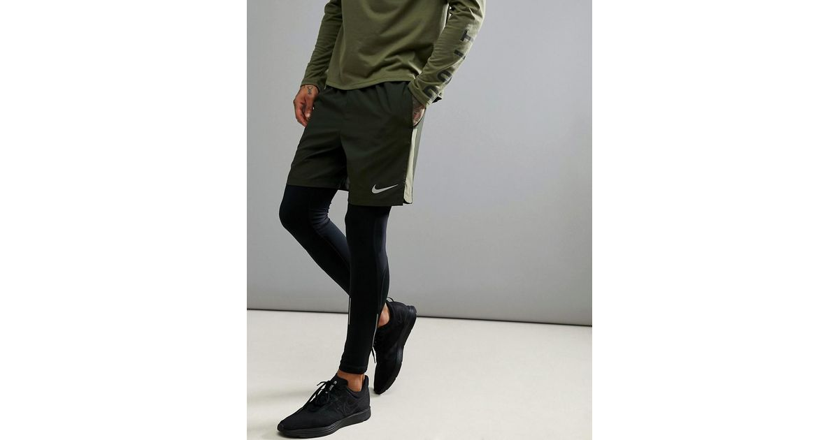 f937a8d7d5ffa Nike Flex Challenger 7 Inch Shorts In Khaki 856838-355 in Green for Men -  Lyst