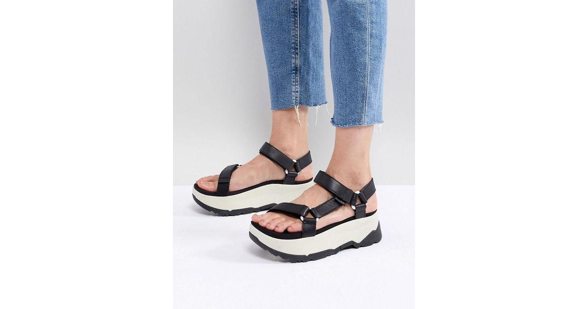 23d4d4029cf Lyst - Teva Black Flatform Zamora Universal Sandals in Black