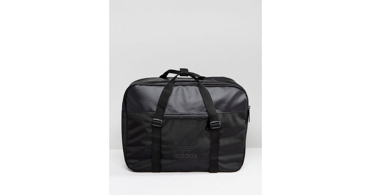e10a5c38a26c adidas Originals Airliner Sport Bag In Black in Black for Men - Lyst