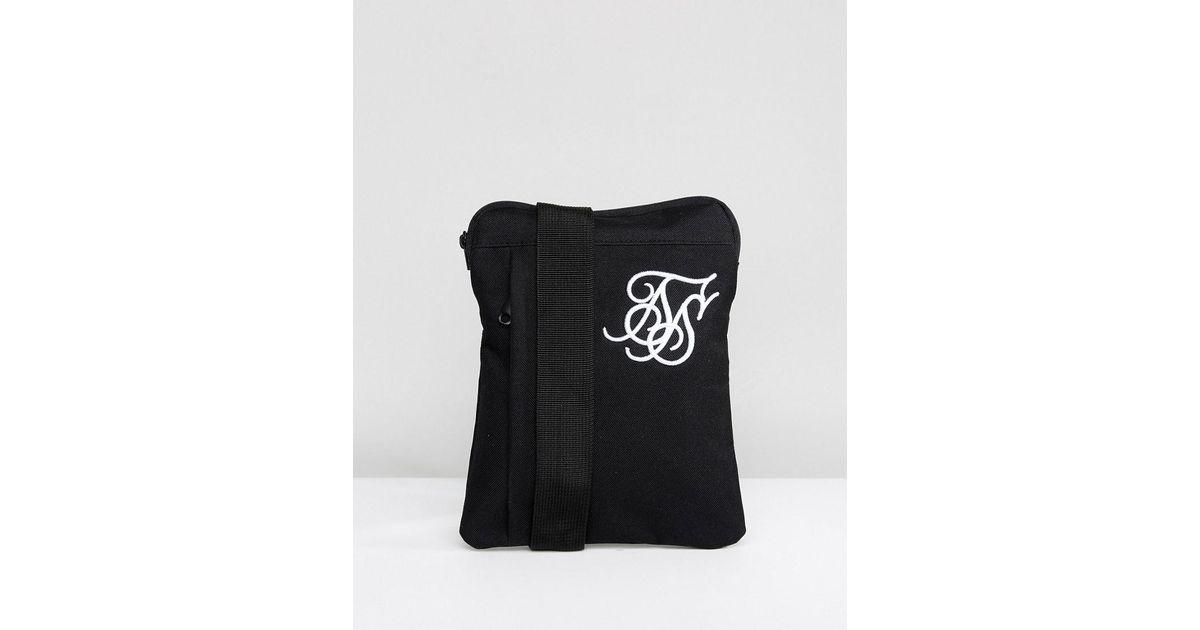 Siksilk Flight Bag In Black in Black for Men - Lyst 2d9055f57223d