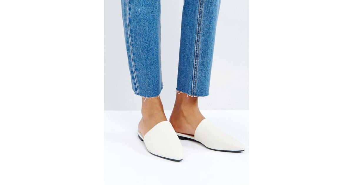62f39289a39 Vagabond Katlin White Leather Flat Mules in White - Lyst