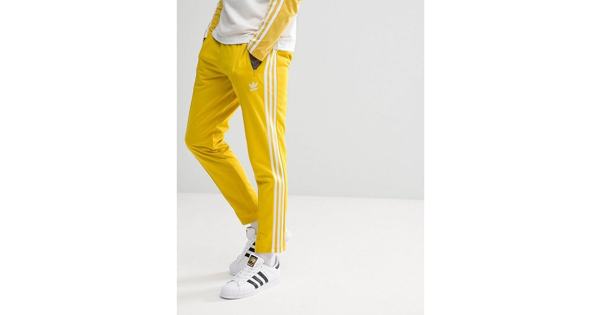 a99f39da4e1 adidas Originals Adicolor Beckenbauer Joggers In Skinny Fit In Yellow  Cw1273 in Yellow for Men - Lyst