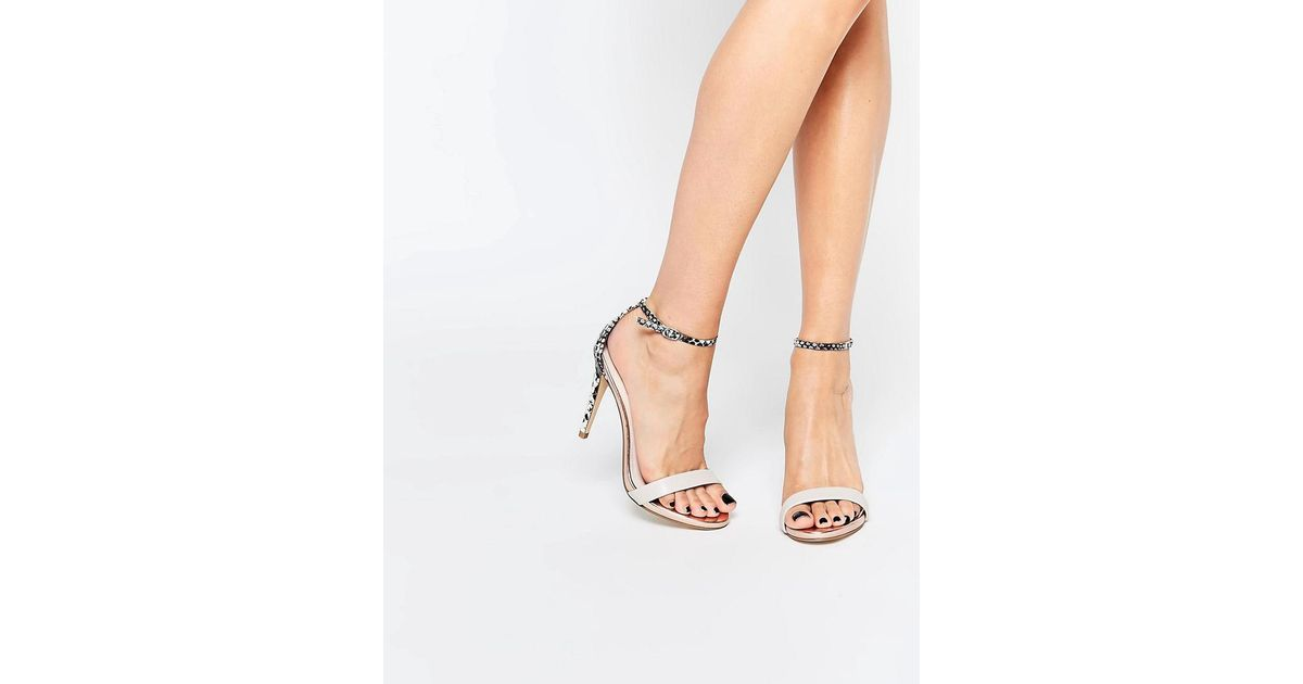 e759d4511d2 Steve Madden - Natural Stecy Barely There Heeled Sandals - Lyst