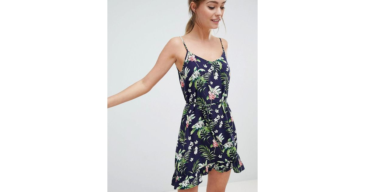 969eced46f50 Oasis Tropical Print Cami Dress in Blue - Lyst