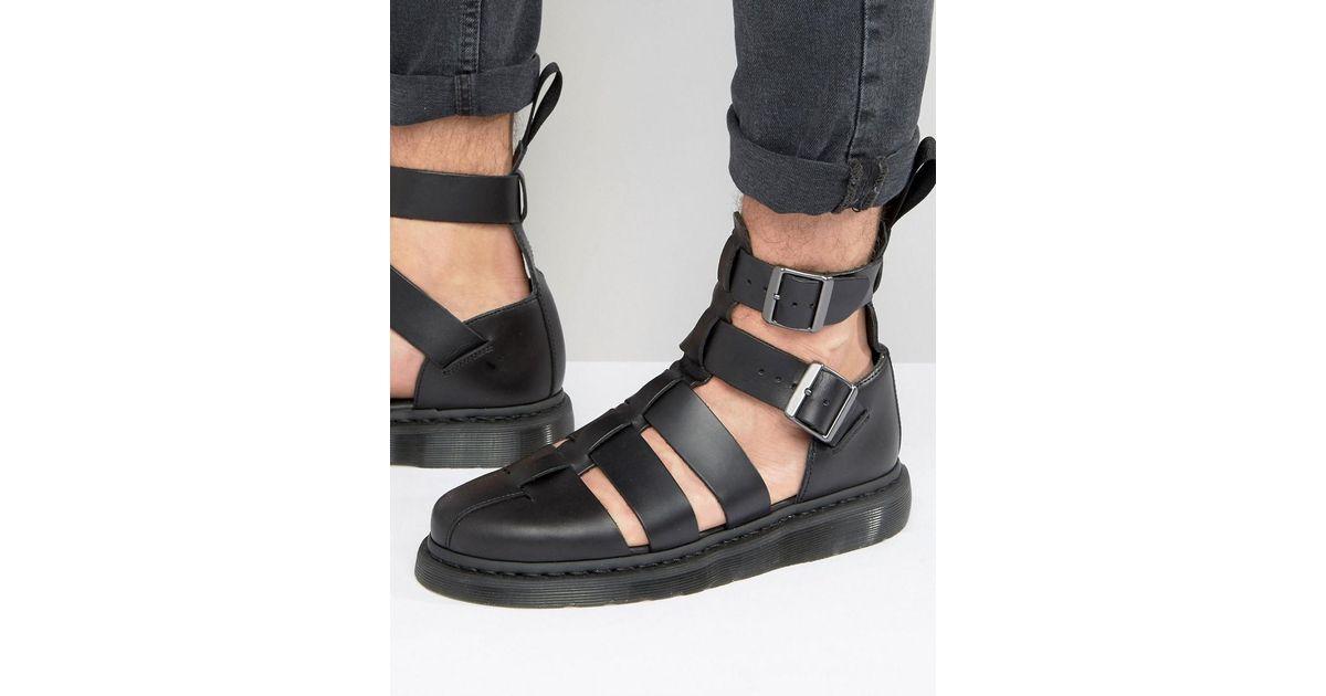 b488f292aa8 Lyst - Dr. Martens Geraldo Sandals in Black for Men