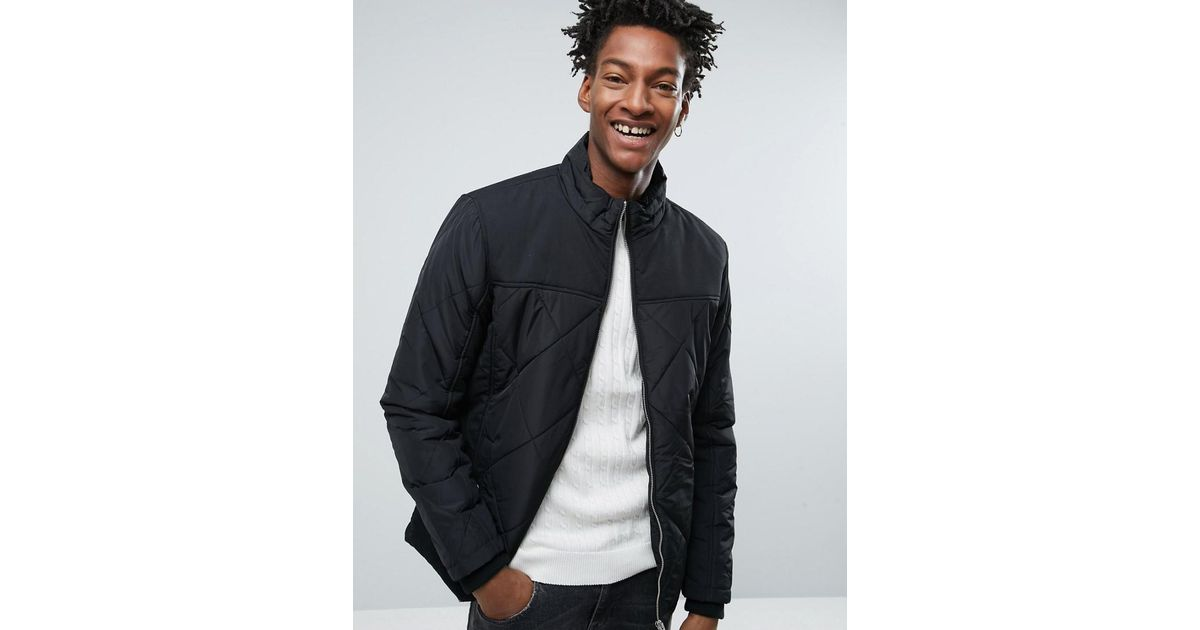 Selected Quilted Jacket in Black for Men | Lyst : selected quilted jacket - Adamdwight.com