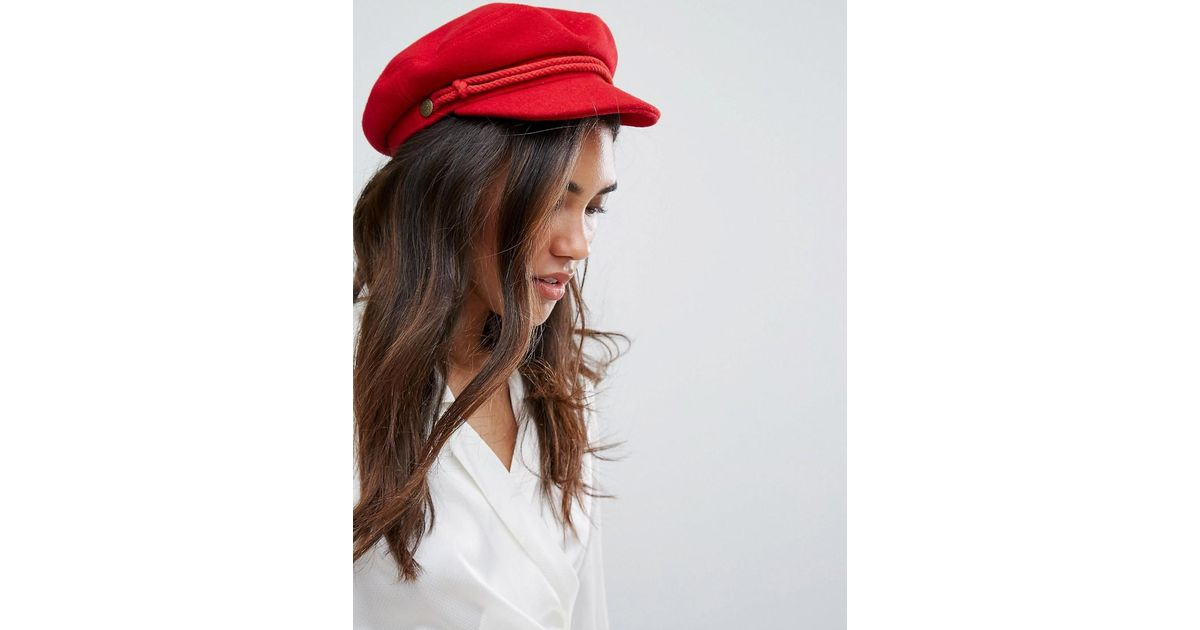 7f859389793ec ... joanna hat a6aca 446a9 promo code lyst brixton baker boy hat in red in  red a99e6 19dae ...