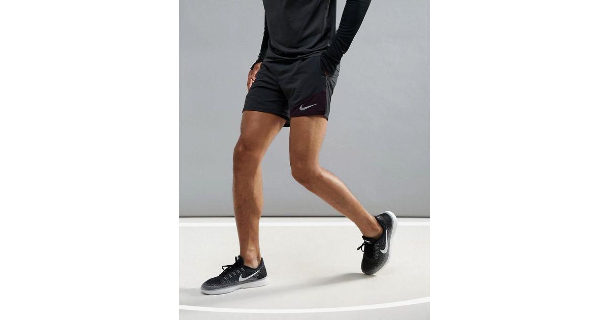 4608e44bdc29e Nike Flex Distance 2-in-1 5 Shorts In Black 904221-013 in Black for Men -  Lyst