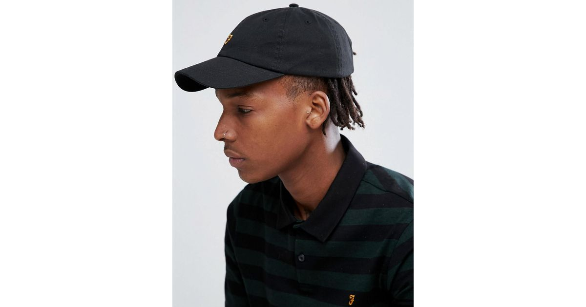 Lyst - Farah Thorney Twill Baseball Hat In Black in Black for Men 16ea30f3d42
