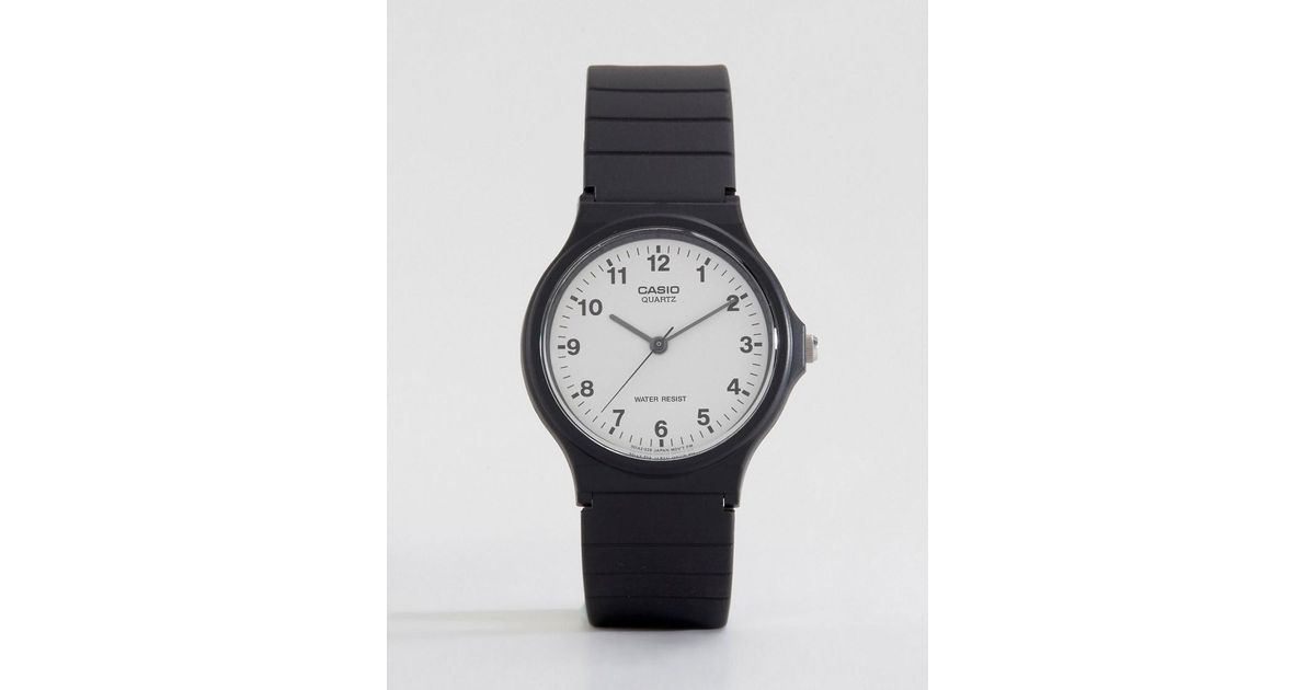 Lyst - Reloj analgico con correa de resina MQ-24-7BLL de G-Shock de hombre  de color Negro f0a705696dd0