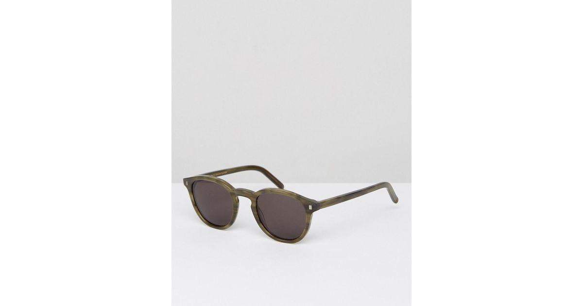 3e326351f5f73 Lyst - Monokel Eyewear Nelson Round Sunglasses In Green in Green for Men