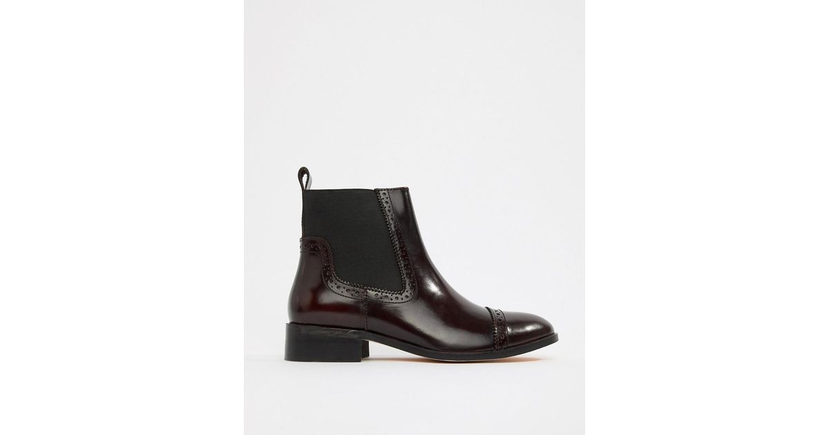 buying new shop for newest boy Dune Red Tyra Leather Chelsea Boots