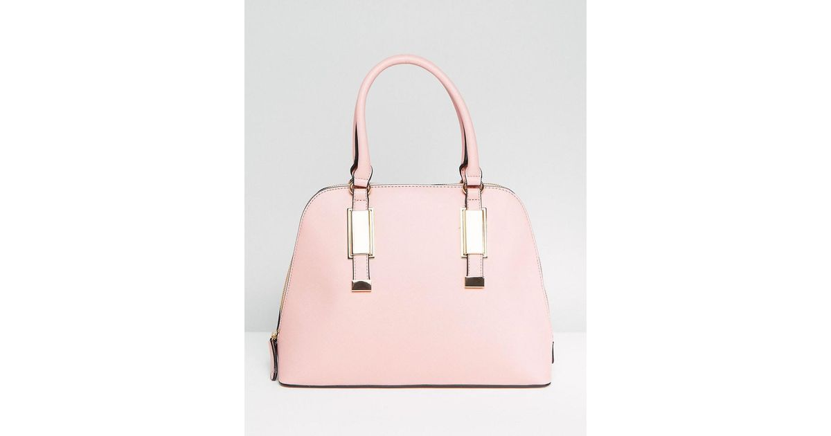 e1895cca71 ALDO Dome Tote Bag With Top Handle In Blush in Red - Lyst