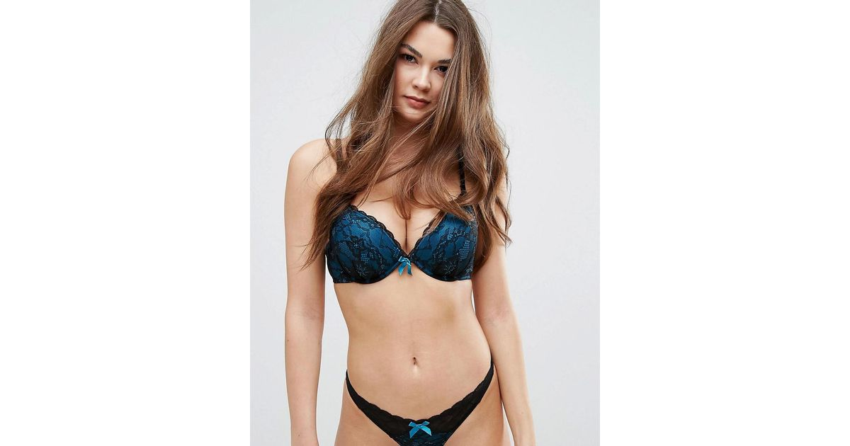 ceaa1db4ff70b Lyst - Ann Summers Darcy Double Boost Bra in Blue