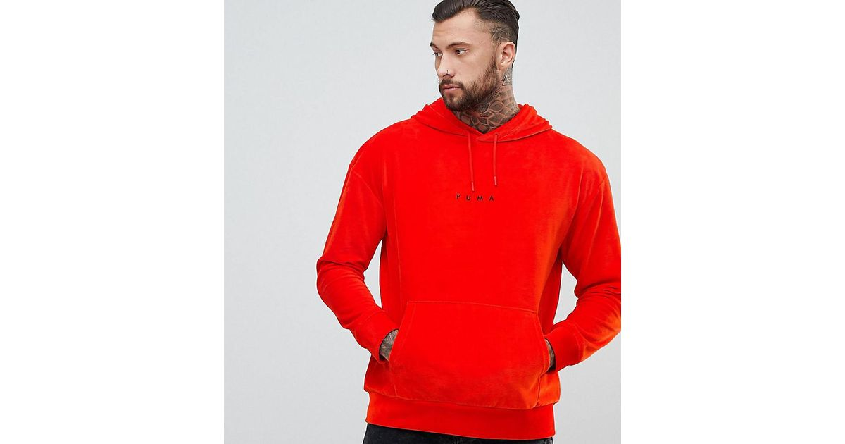 0b09f2625df PUMA Plus Hoodie In Red in Red for Men - Lyst