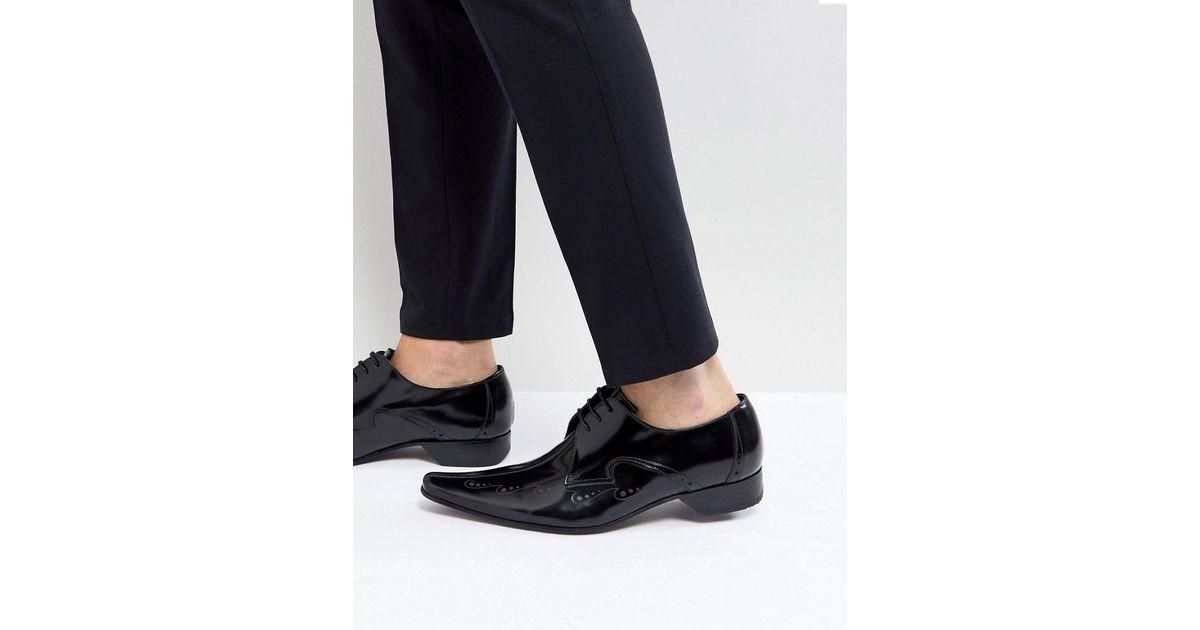 Jeffery Ouest Laser Couture Centre Pino Chaussures De Coupe - Noir XG43iG0Te