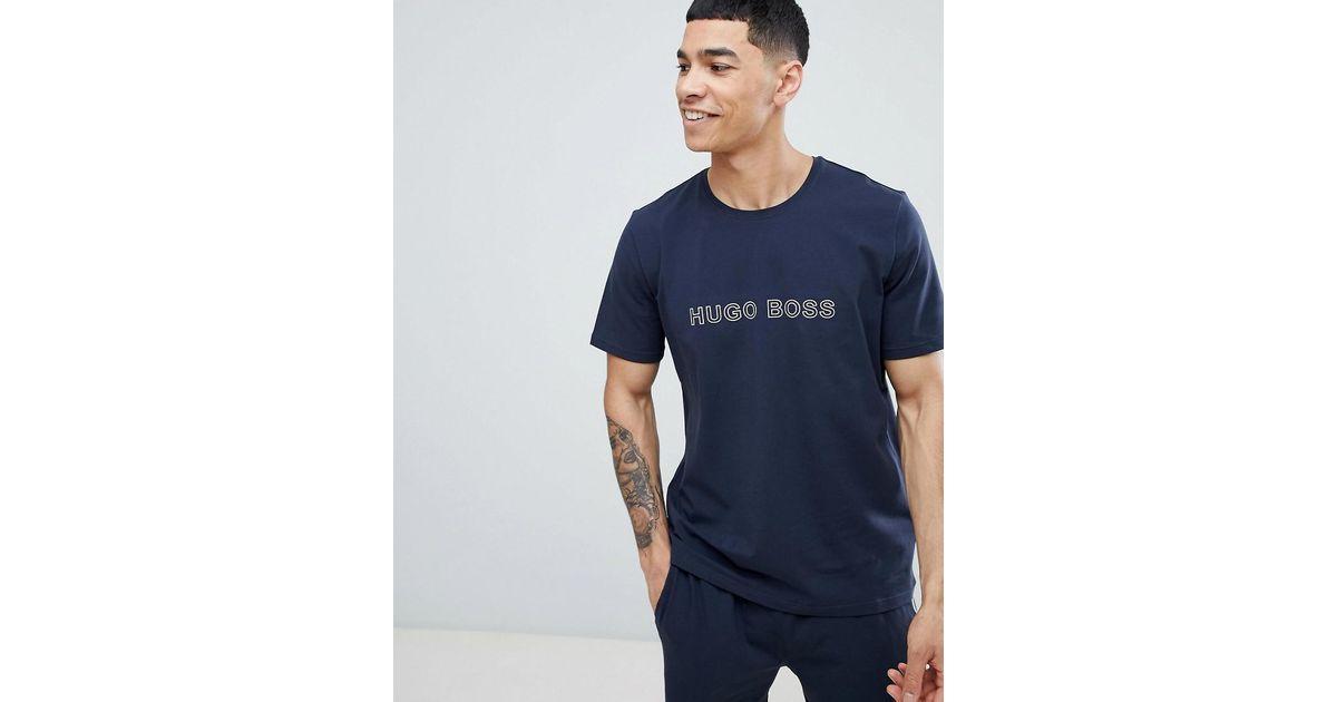 0dd81d461 BOSS Identity Bodywear Logo T-shirt in Blue for Men - Lyst