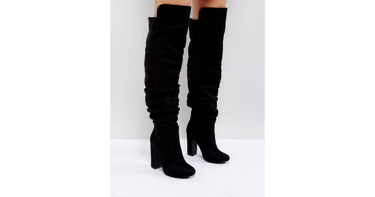 Slouch Knee High Boot - Black Truffle SvUZc