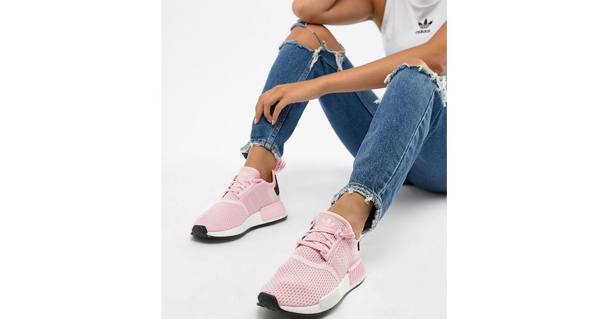 san francisco 186b2 ea9e8 adidas Originals Nmd R1 Sneakers In Pink in Pink - Lyst