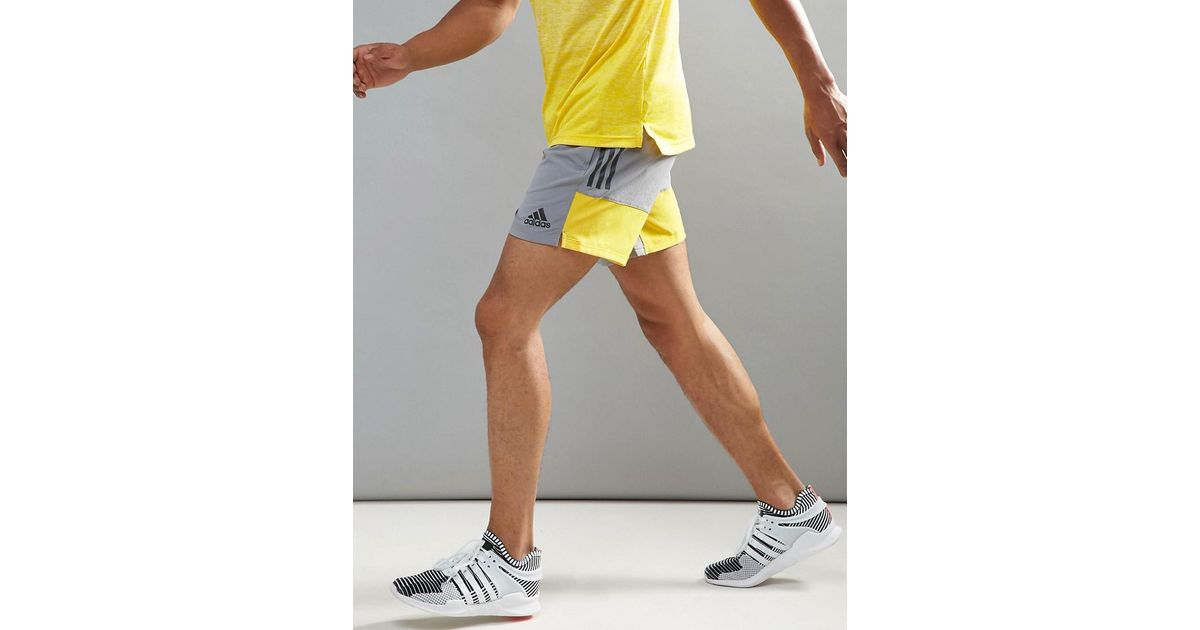 7dd55face8f80 Adidas Training Woven Shorts In Gray Br3739 in Gray for Men - Lyst