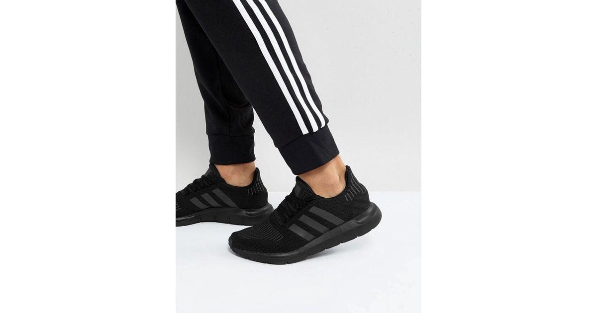 12035cdec29b6 Lyst - adidas Originals Swift Run Sneakers In Black Cg4111 in Black for Men  - Save 3%