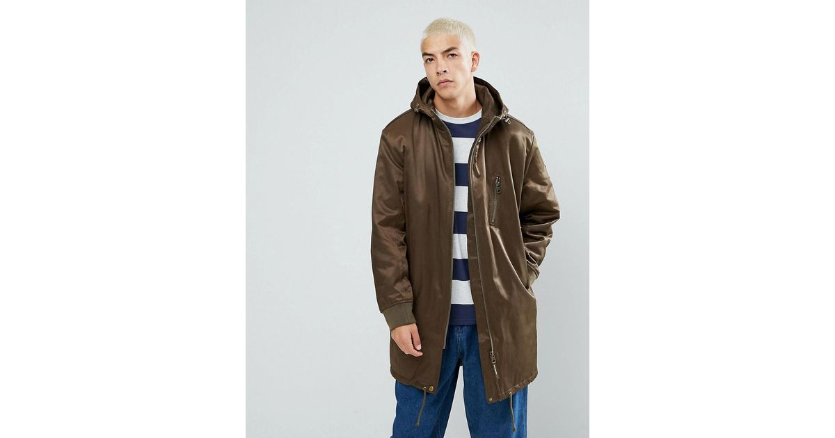 Cheap monday Alert Parka in Green for Men | Lyst