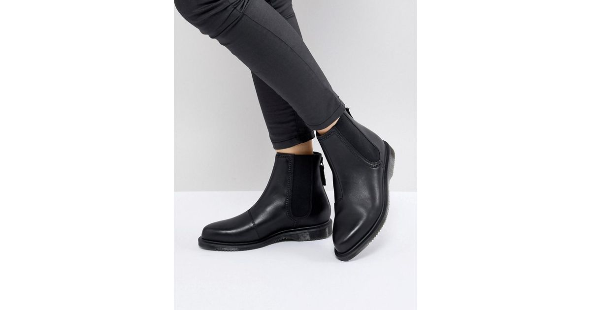 557eceaa5a6 Lyst - Dr. Martens Zillow Refine Chelsea Boot In Black Leather in Black