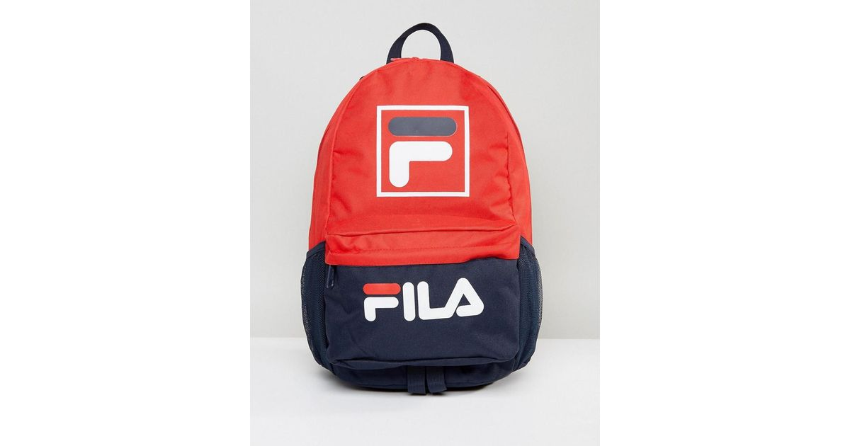 Lyst - Fila Vintage Fila Alberto Backpack In Navy in Blue for Men
