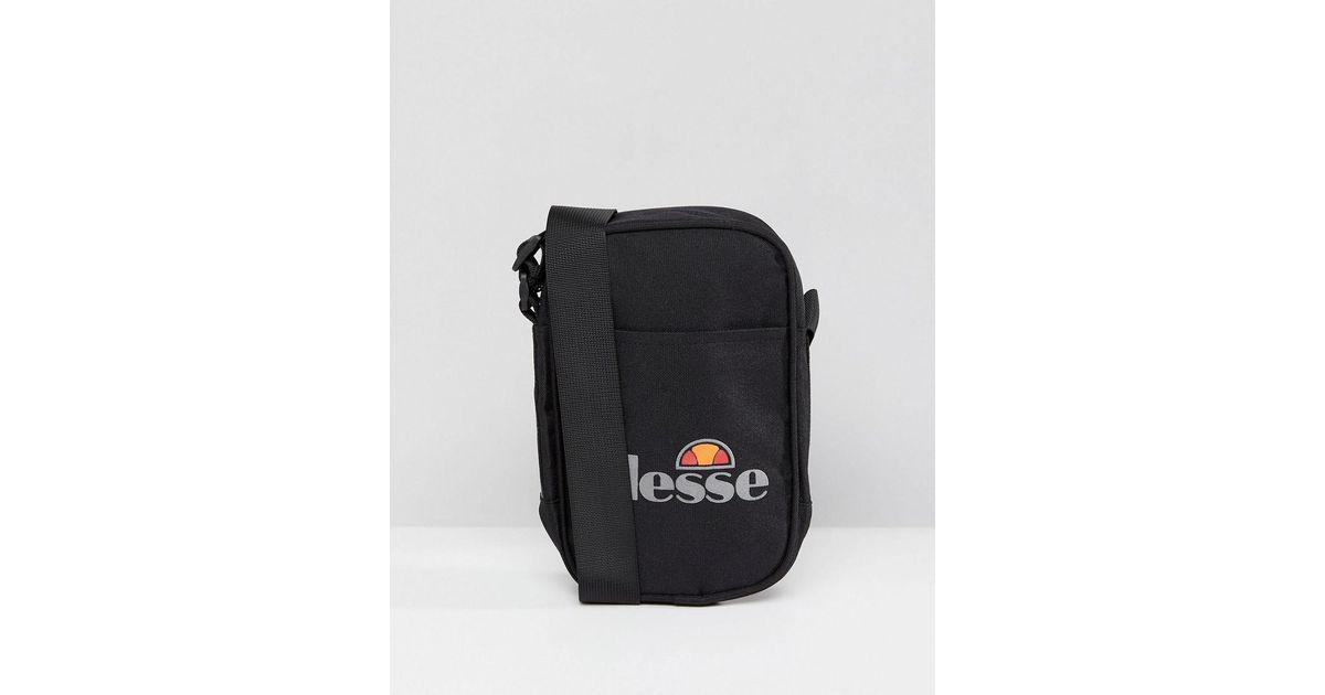 8a6c85c95a Ellesse Flight Bag With Logo In Black in Black for Men - Lyst