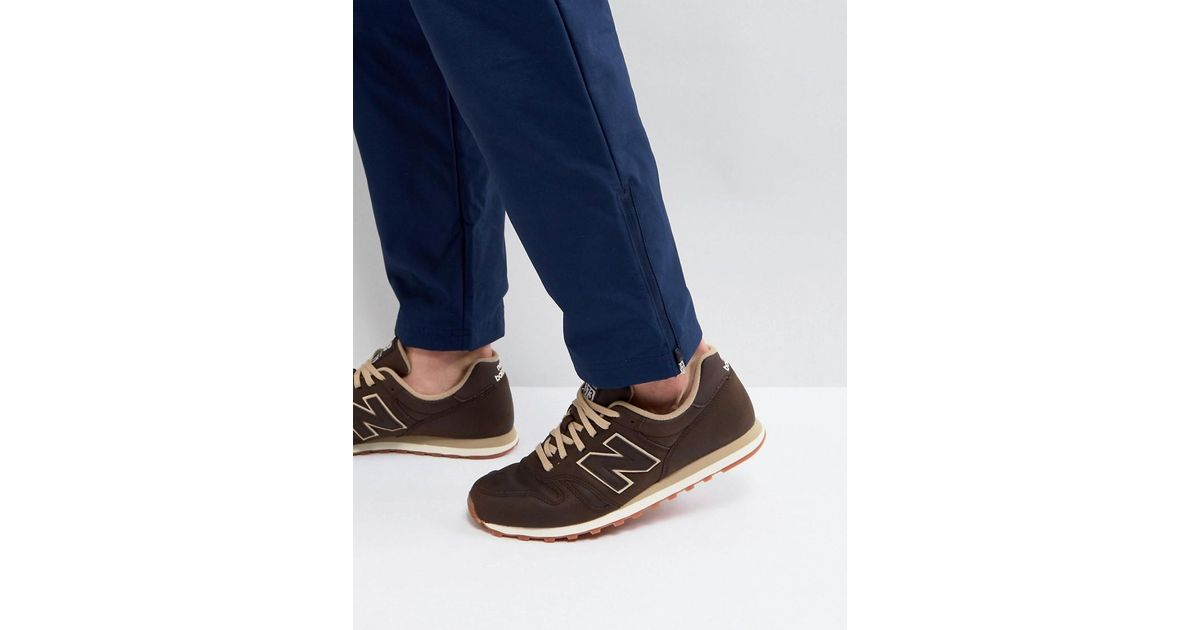 new balance 373 brown blue