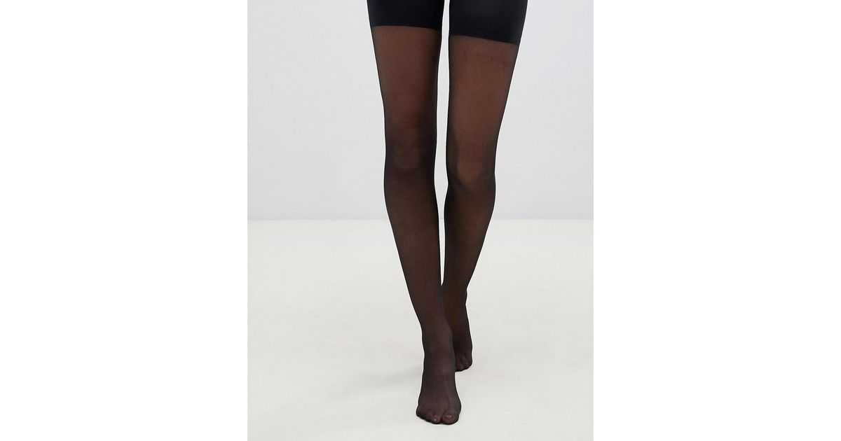 532194bc8 Pretty Polly In Shape Sheer Longline Shaper Tights In Black in Black - Lyst