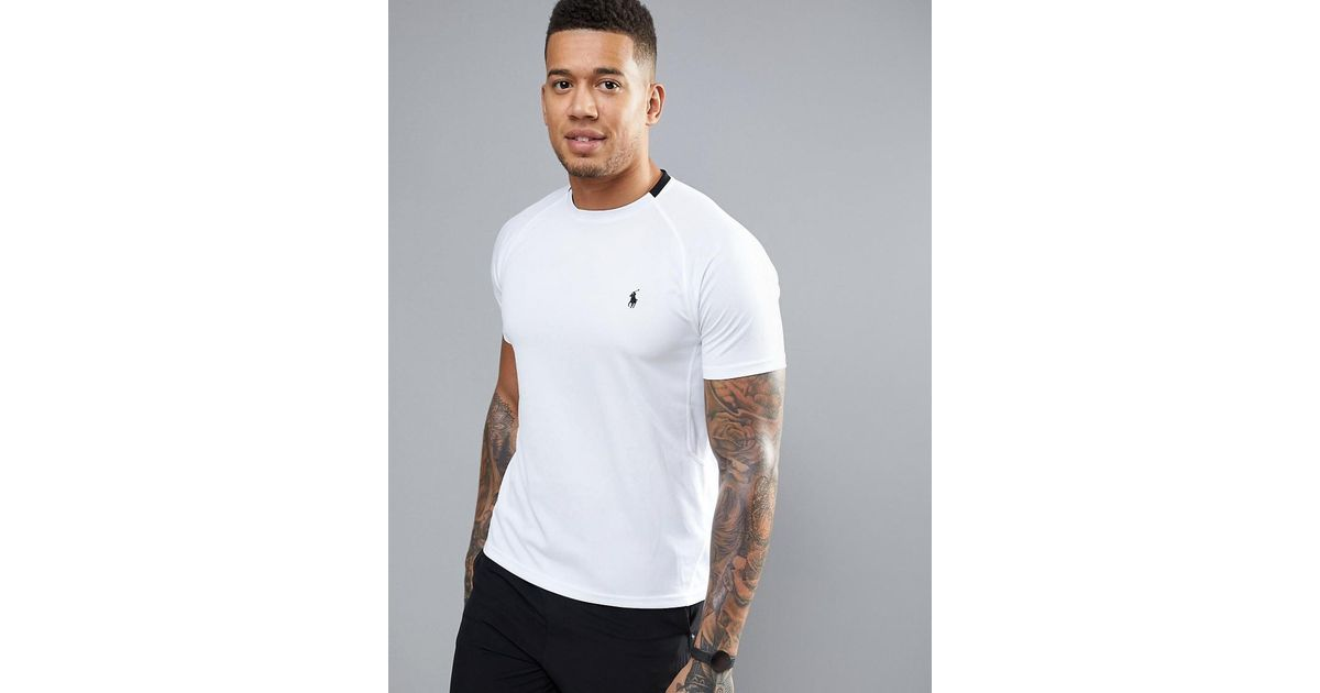 00ba439a8 Polo Ralph Lauren Microdot T-shirt Quick Dry In White in White for Men -  Lyst