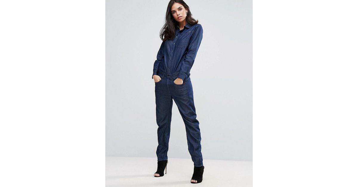 45d23c83dba Lyst - G-Star RAW Arc Denim Boilersuit in Blue