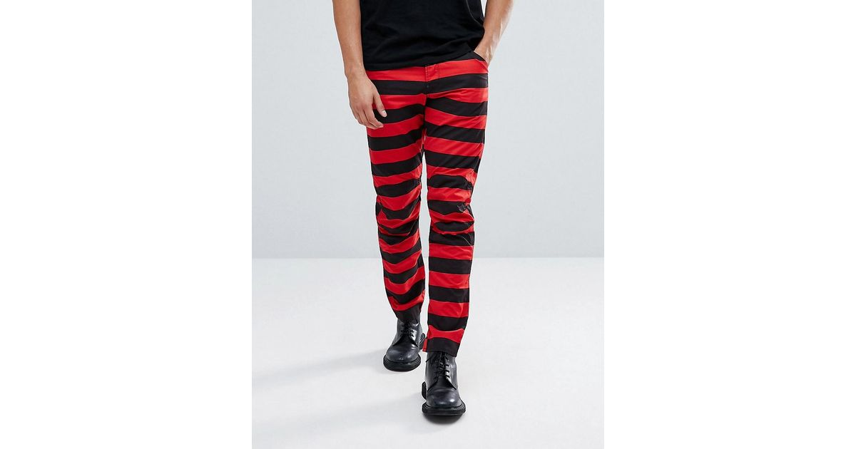 Elwood 5622 x 25 Pharrell Jeans in Stripe - Red/black G-Star Best Sale Cheap Price Wholesale Price Cheap Price Clearance Fashionable Discount Best Discount Professional NqU45k