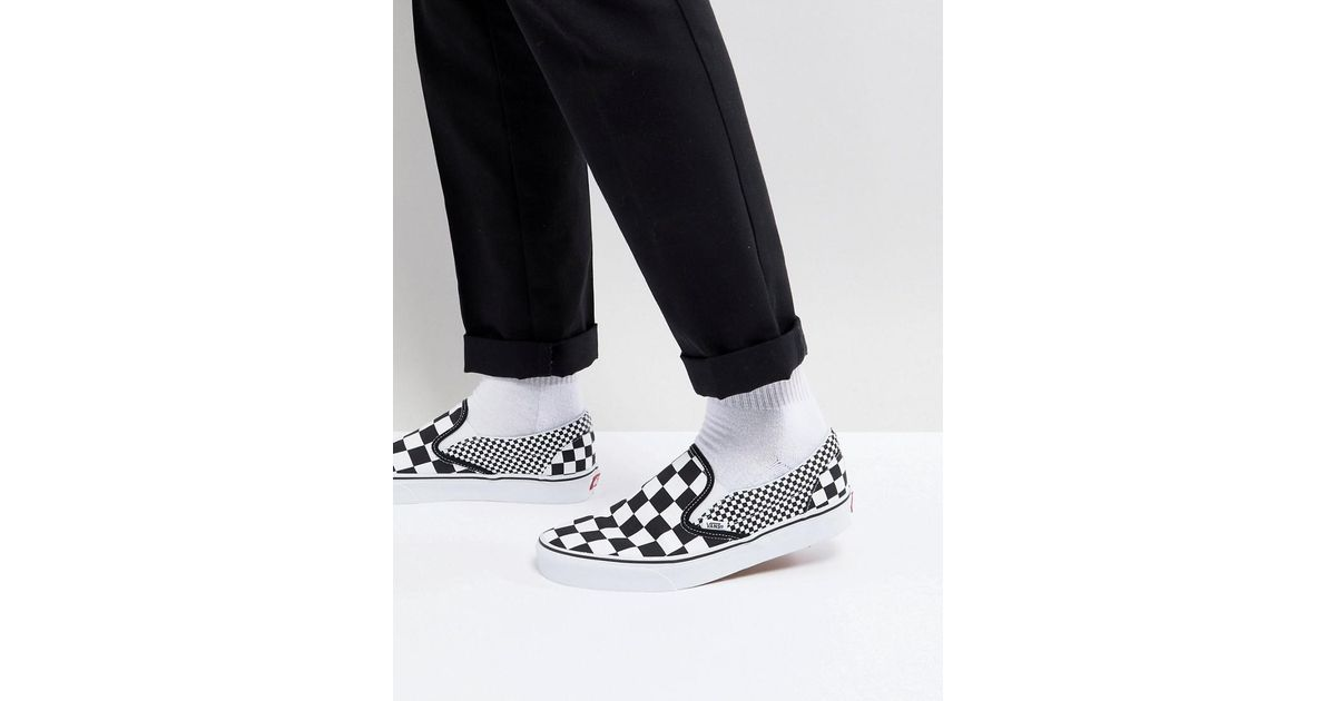 755ca021438 Vans Classic Checkerboard Slip-ons In Black Va38f7q9b in Black for Men -  Lyst