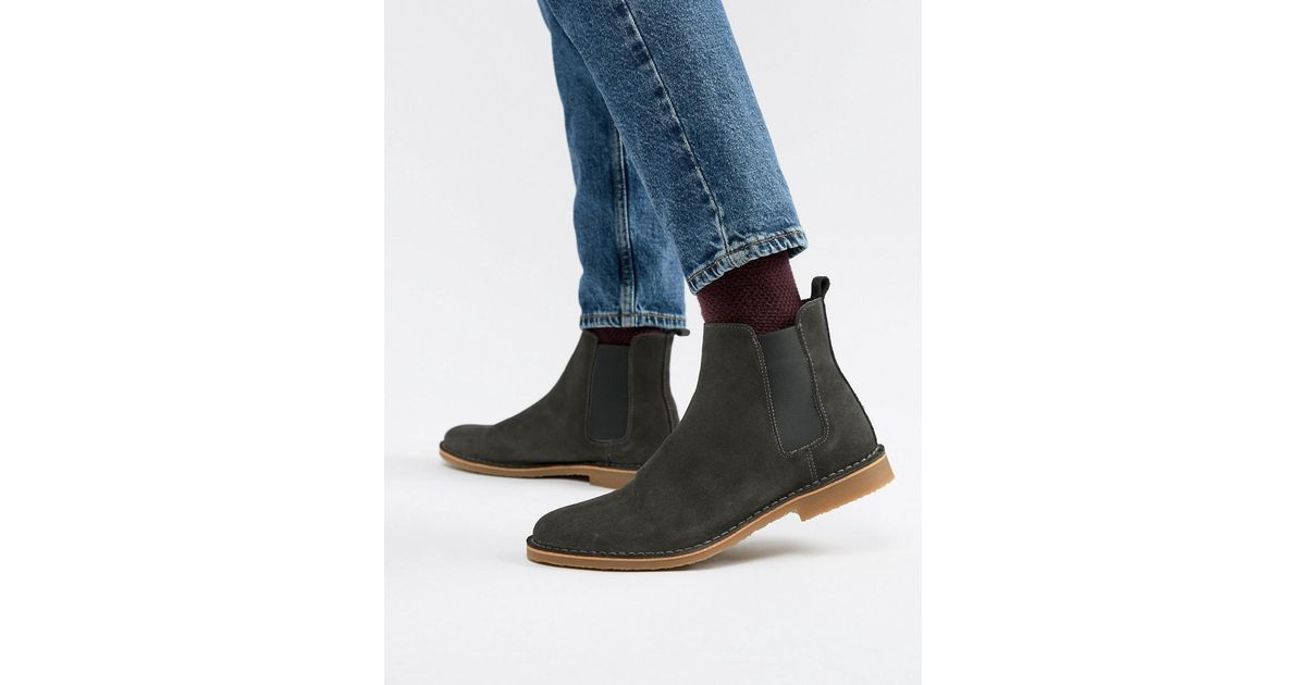 3760b1ee3a0bd3 Office Iberian Chelsea Boots In Grey Suede in Gray for Men - Lyst