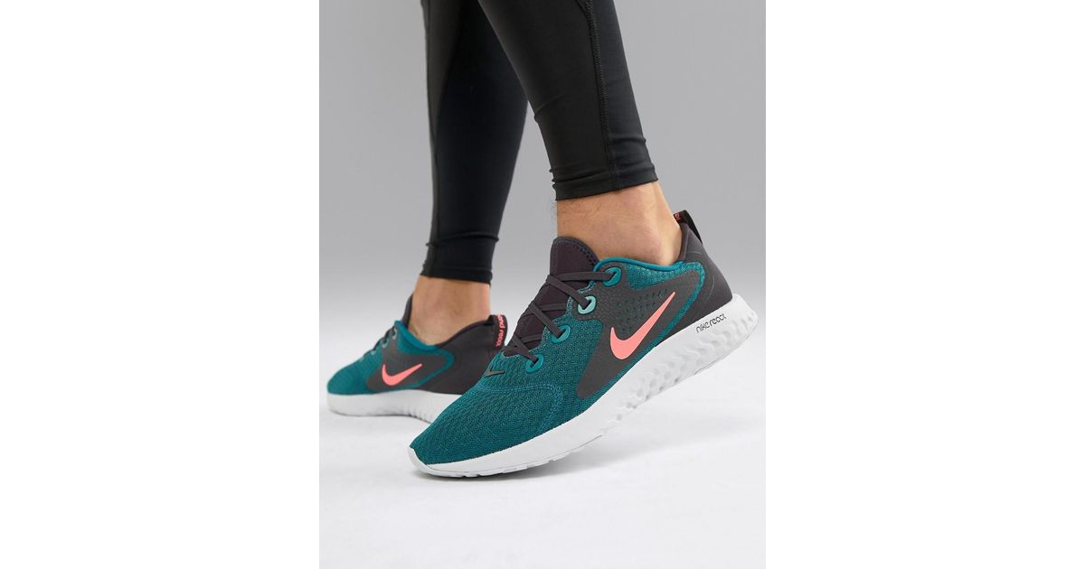 best website 39ca3 b7af5 Nike Legend React Trainers In Green Aa1625-300 in Green for Men - Lyst
