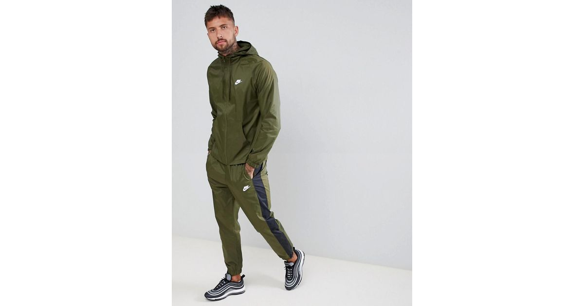 5b08e21004 Nike Colour Block Tracksuit Set In Green 928119-395 in Green for Men - Lyst