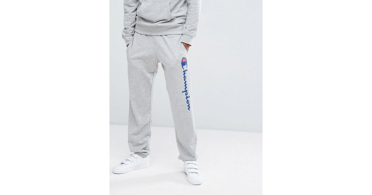 4354d558 Champion Logo Joggers in Gray for Men - Lyst