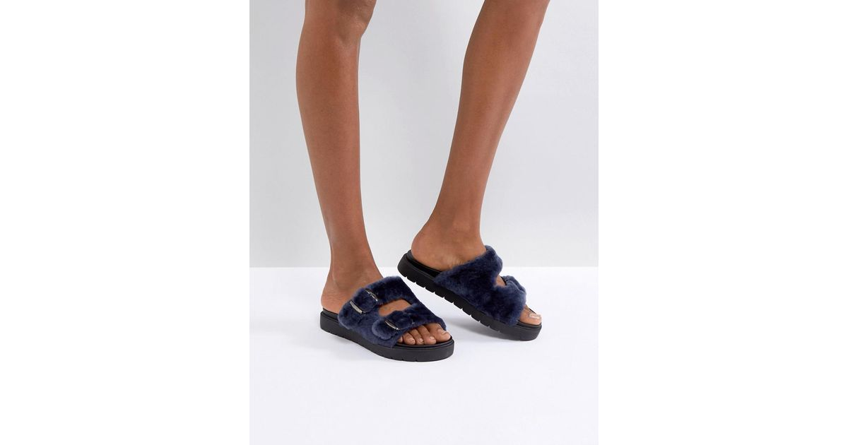 manchester great sale sale online Carvela Krumble Shearling Sliders buy cheap for cheap for cheap cheap online pay with paypal cheap price 9M5UEMozS